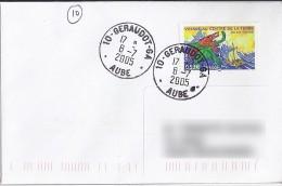 AUBE - 10 -  GERAUDOT  GA   TàD De Type A9 De 2005 - Manual Postmarks