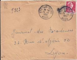 AUBE - 10 -  GYE SUR SEINE   TàD De Type A6 De 1955 - Manual Postmarks
