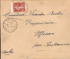 AUBE - 10 - PONT S/ SEINE      TàD De Type A4 De 1913 - Manual Postmarks