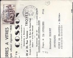 AUBE - 10 - ST ANDRE LES VERGERS     TàD De Type A7 De 1956 - Marcophilie (Lettres)