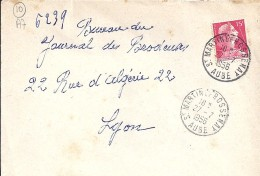 AUBE - 10 - ST MARTIN DE BOSSENAY    TàD De Type A7 De 1956 - Manual Postmarks