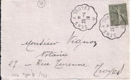 AUBE - 10 - SENS A TROYES    TàD De Type CCL3 De 1918 - Manual Postmarks