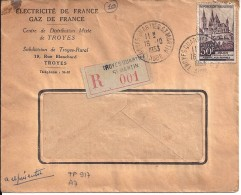 AUBE - 10 - TROYES  QUARTIER ST MARTIN   TàD De Type A7 De 1953 - Manual Postmarks