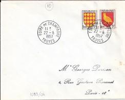 AUBE - 10 - TROYES/FOIRE DE CHAMPAGNE   TàD De Type A7 De 1957 - Manual Postmarks