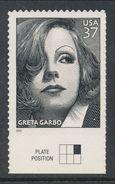USA 2005. Scott # 3943. Greta Garbo Joint Isue USA - Sweden, MNH (**) - Nuevos