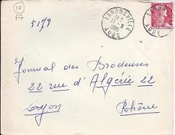 AUBE - 10 - LANDREVILLE  TàD De Type A7 De 1955 - Manual Postmarks