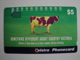 1 Tamura Phonecard From Australia - Cow - Australien