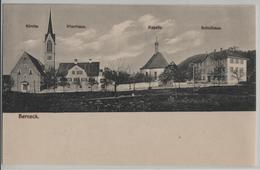 Berneck - Kirche, Pfarrhaus, Kapelle, Schulhaus - Photo: J. Thurnheer - SG St. Gall