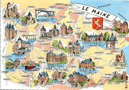 Carte Géographique - Le Maine - Maps
