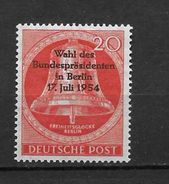 LOTE 1443  ///  (C075)  ALEMANIA BERLIN 1954    MICHEL Nº:118 - YVERT Nº: 108        //  CATALOG:COTE: 7,25€ - Neufs