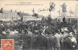 St Leger Vauban 89    Inauguration Statue 1905 - France