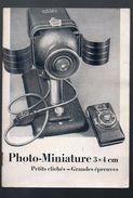 (photo) Livret PHOTO MINIATURE  COLIBRI ZEISS IKON  (PPP6290) - Publicidad