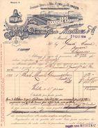 "6981 ""VINO MARSALA - DOMENICO FLORIO MARTINEZ & C. MARSALA (TP)""  FATTURA ORIG. SU CARTA INTESTATA, SPED. 1914 - Italia"