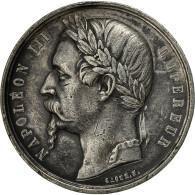France, Medal, Exposition Universelle De Besançon, 1860, Caqué, TTB+, Tin - Francia