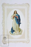 Vintage Embossed Plastic Holy Card - Virgin Mary - Imágenes Religiosas