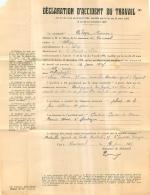 VERNASSAL HAUTE LOIRE DECLARATION ACCIDENT DE TRAVAIL DE 1945 - 1900 – 1949