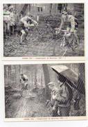 Cyclisme Caudan Championnat Du Morbihan 1981 Cyclo-cross Passage Délicat Chute (2 Cartes) - Cycling