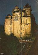 12. CPM. Aveyron. Rodez. La Cathédrale Notre-Dame. Effet De Nuit (autos, 204, Dauphine, 2CV, Etc...) - Rodez