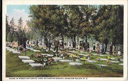 Scene In Moravian Grave Yard On Easter Sunday, Winston-Salem - Winston Salem