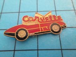 Pin414c Pin's Pins / Beau Et Rare / AUTOMOBILE /  CHEVROLET CORVETTE ROUGE C'est écrit Dessus Comme Le Port Salut - Corvette