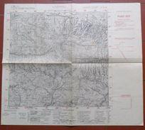 ANTICA MAPPA GEOGRAFICA TOPOGRAFICA DI LUSEVERA  - DELL'ISTITUTO GEOGRAFICO MILITARE - - Carte Topografiche