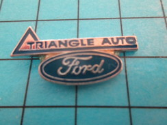 Pin414c Pin's Pins / Beau Et Rare / AUTOMOBILE /  TRIANGLE AUTO FORD - Ford