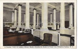 A Partial View Of Lobby - Home Bank - Wachovia Bank & Trust Co. - Winston-Salem - Winston Salem