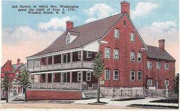 Old Tavern In Which Geo. Washington Spent The Night Of June 1, 1791 - Winston-Salem - Winston Salem