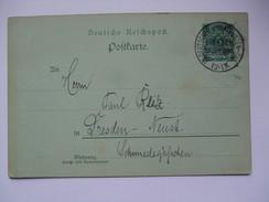GERMANY - 1898 Postcard - Philatelistentag Dresden Sonderstempel - Deutschland