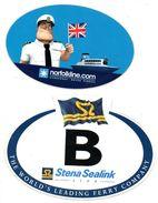 2 Stickers Autocollants  Nordfolkline Dunkerque Dover Ferries En Stena Sealink Line    Sticker Autocollant - Aufkleber