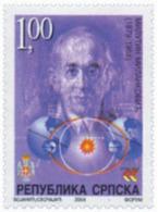Ref. 146264 * NEW *  - BOSNIA-HERZEGOVINA. Serbian Adm. . 2004. 125th BIRTH ANNIVERSARY OF MILUTIN MILANKOVIC. 125 ANIVE - Bosnia Erzegovina