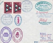 POLE. SOUTH ORKNEYS. AVEC AUTRES MARQUES. SIGNEE. AVEC BORD DU PLAQUE. 1963. LE MEILLEUR,COLLECTION VOZNESENSKY-BLEUP - Bases Antarctiques