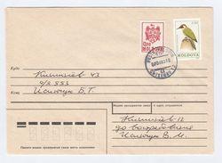 1993 MOLDOVA COVER Stamps 2.50 WOODPECKER Bird 0.50 Arms Birds - Climbing Birds