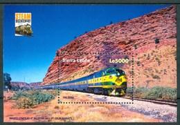 "2004 Sierra Leone ""The Ghan"" Treni Trains Railways Block MNH** Sie99 - Sierra Leone (1961-...)"