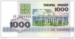 Belarus - Pick 11 - 1000 Rublei 1992 - Unc - Bielorussia