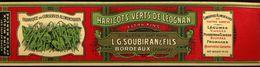HARICOTS VERT DE LEOGCHROMO ALIMENTAIRE L.G.SOUBIRAN BORDEAUX  NAN 7X31 Cm GLACE - Fruits & Vegetables