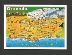 POSTCARD MAPS MAP GRANADA SIERRA NEVADA ANDALUCIA SPAIN ESPAÑA ESPAGNE ESPANA - Postcards