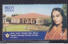 INDIA, 2017, Yogoda Satsanga Society Of India, Yogananda, MNH, (**) - Inde