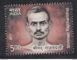 INDIA, 2017. Shrimad Rajchandraji 1v,,poet, Writer, Closely Associated With Mahatma Gandhi, MNH(**) - Inde