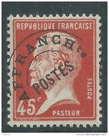 FRANCE  PREOBLITERE N° 67 XX Type Pasteur 45 C. Rouge  Sans Charnière, TB - Precancels