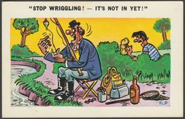Saucy Humour - Flip, Stop Wriggling!, C.1960s - Constance Postcard - Humour