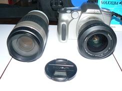 MACCHINA FOTOGRAFICA ANALOGICA DIGITALE MINOLTA DYMAX 40 + 2 OBIETTIVI ZOOM  MINOLTA  AF 28-100  1:35- 5,6 D E 75-300 - Appareils Photo