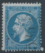 Lot N°38938  Variété/n°22, Oblit GC 585 Bourogne (66), Ind 5, Fond Ligné Horizontal, S De POSTES - 1862 Napoleone III