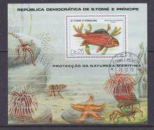 Sao Tome E Principe 1979 Fishes M/s Used Cto (37126A) - Sao Tome En Principe