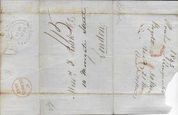 1843 - LETTRE De BOGOTA (COLOMBIE) => LONDON Avec TRANSIT MARITIME à ST THOMAS VIRGIN ISLAND (RARE) - Iles Vièrges Britanniques