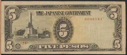 °°° JAPANESE GOVERNMENT 5 PESOS 1943 °°° - Filippine