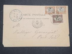 COTE FRANçAISE DES SOMALIS - Carte Postale De Djibouti Pour Port Said (Egypte) - Dec 1906 - En L'état - P22097 - Lettres & Documents