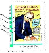 MonTimbraMoi MTM (2017) - Roland IROLA : 60 Ans Au Service De La Philatélie. Dessinateur De Timbres. Lettre Verte 20g. - Francia