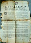 1705 ABUS DES RECEVEURS AU RECOUVREMENT DES DENIERS DU ROY - Affiches