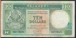 °°° HONG KONG 10 $ DOLLARS 1990 °°° - Hong Kong